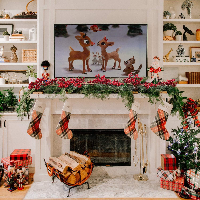 A/ño Nuevo Decoraci/ón Artificiales Bayas Guirnalda Navidad Decoracion Acebo Planta Bayas Navidad para Decoraci/ón de Chimenea,Vacaciones YQing 183cm Navidad Guirnalda de Bayas Rojas