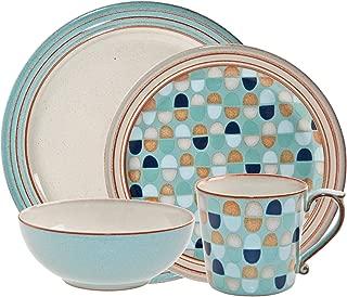 Denby 16-Piece Heritage Pavilion Dinner Set, Set of 4
