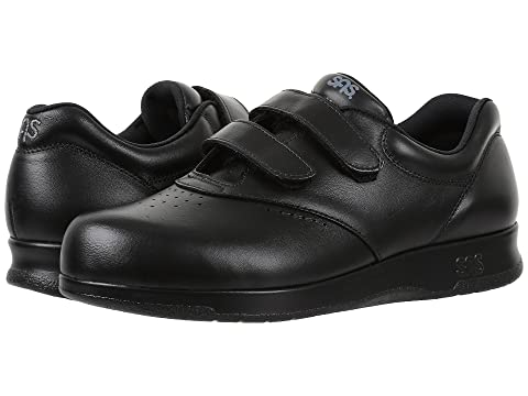 NEW Women/'s SAS Me Too Black Leather Supportive Comfortable Hook and Loop Shoe