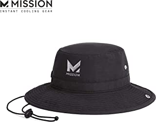 "MISSION Cooling Bucket Hat- UPF 50, 3"" Wide Brim, Cools When Wet"