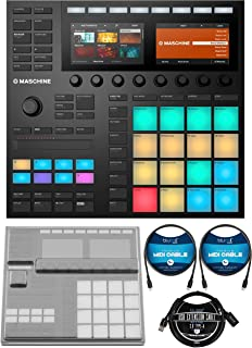 Native Instruments MASCHINE MK3 Drum Controller and USB Audio Interface Bundle with DeckSaver Protective Cover for MK3, Bl...