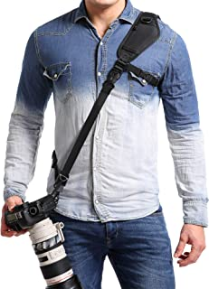 waka Camera Neck Strap with Quick Release, Safety Tether and Underarm Strap, Adjustable Camera Shoulder Sling Strap for Ni...
