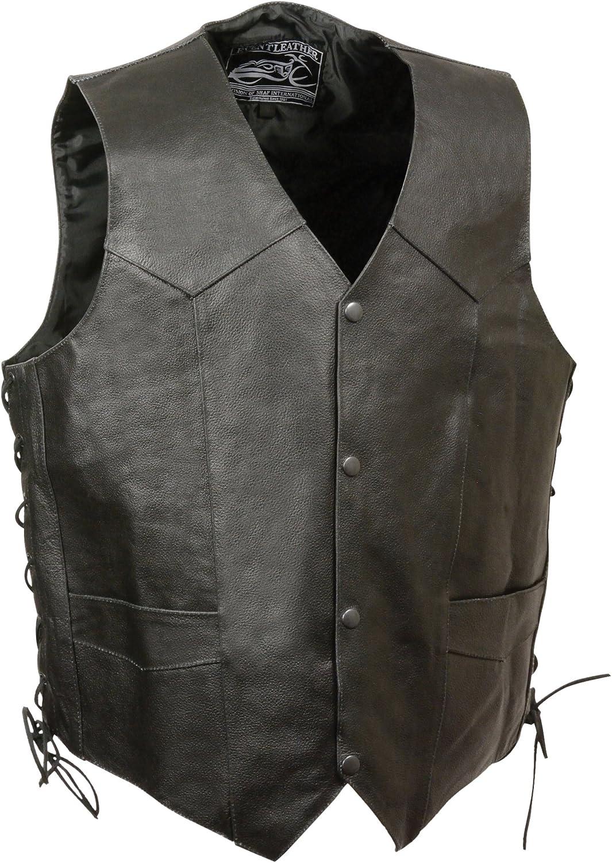 Event Leather Men's Mayhem Skull Vest