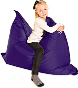 Large Childrens Beanbag-The Cloud Jnr Purple-XL 120x100cm- Indoor  amp  Outdoor Garden Kids Teen Giant Bean Bag Waterproof FAST DISPATCH
