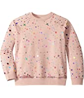 Stella McCartney Kids - Sequins Tulle Layer Sweatshirt (Toddler/Little Kids/Big Kids)