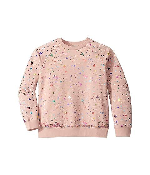Stella McCartney Kids Sequins Tulle Layer Sweatshirt (Toddler/Little Kids/Big Kids)