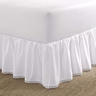 Laura Ashley Crochet Ruffled Bedskirt, Full, White