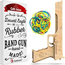 iSottcom Rubber Band Gun – Toy Gun Desert Eagle – Boys Toys for Outdoor Indoor Game – Wooden Toy Guns – Best Present for Men – Wooden Pistol for Shooting Game – Kids Toys for Pretend Play