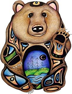 Beart Print | Grizzly Artwork | Spirit Animals | Wildlife Art | Giclee Printing | 2 Sizes | Signed by Artist