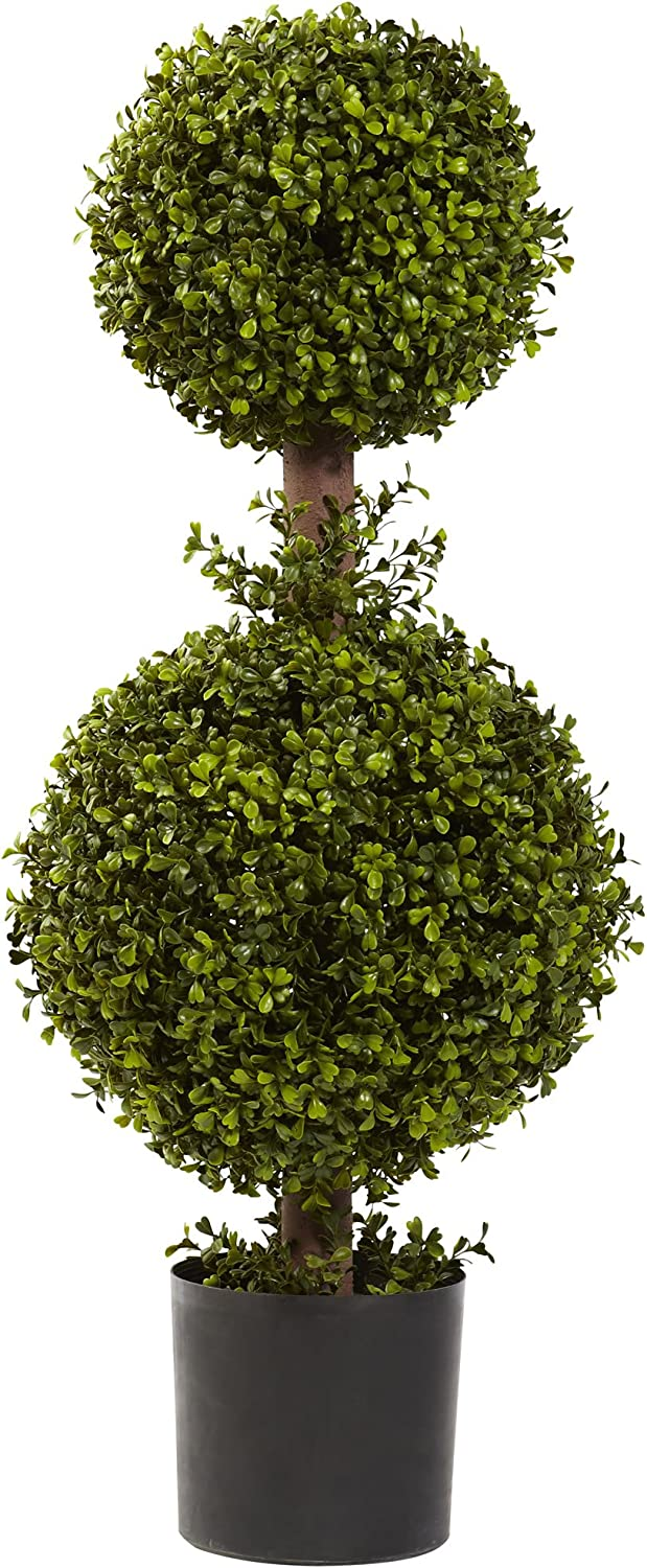 Nearly Natural Sale special price 5920 Cash special price Double Boxwood Topiary 35-Inch Green 12