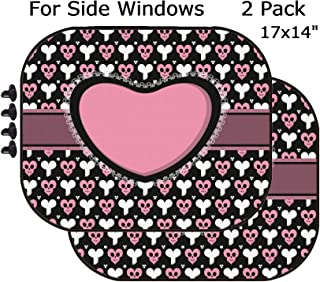 MSD Car Sun Shade - Side Window Sunshade Universal Fit 2 Pack - Block Sun Glare, UV and Heat for Baby and Pet - Image ID: 10184927 Emo Goth lace Card