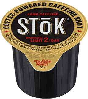 SToK Cold-Brew Espresso Coffee Shots, Unsweetened, 264 Pack