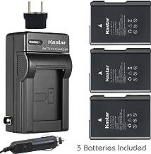 Kastar Battery (3-Pack) and Charger Kit for Nikon EN-EL14, EN-EL14a, MH-24 and Coolpix P7000, P7100, P7700, P7800, D3100, D3200, D3300, D5100, D5200, D5300, D5500 DSLR, Df DSLR Cameras