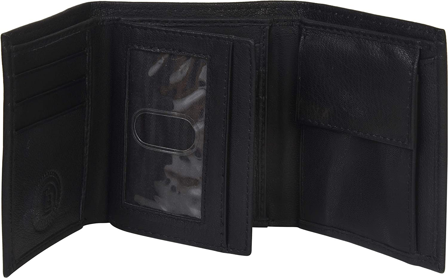 Boys Slim Compact Flap Id and Coin Pocket Trifold Wallet