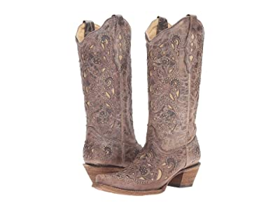Corral Boots A1098 (Brown/Crater Bone) Women