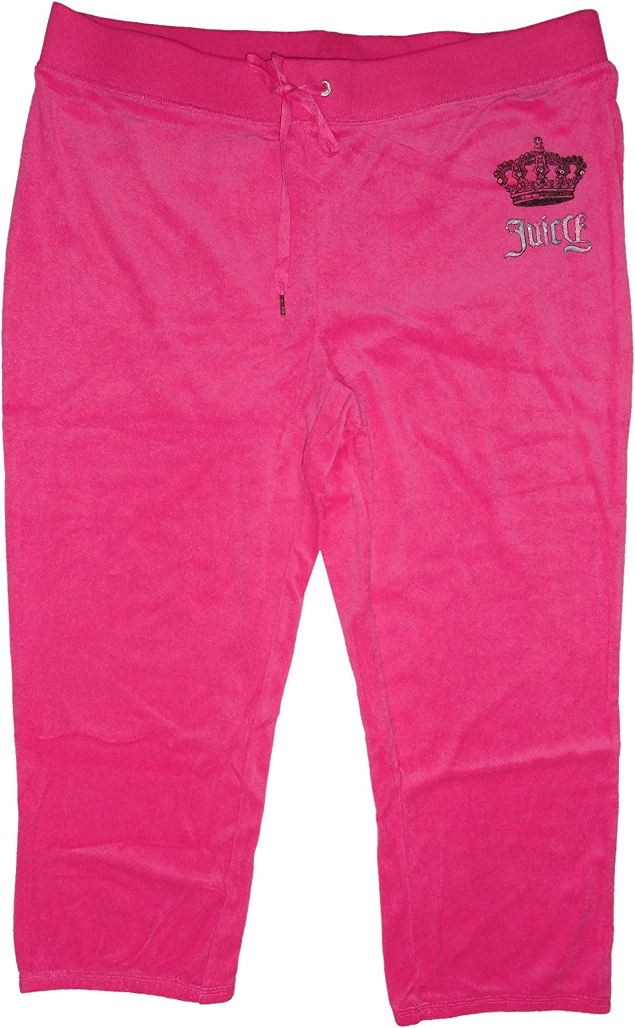 Juicy Couture Womens Velour Crown Logo Sweatpants Knockout Pink