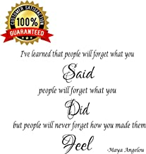 7ProductGroup Maya Angelou I've Learned That People Inspirational Quote Saying Wall Sticker Decal Transfer Vinyl Wall Decal Vinyl Stickers Love Romance Family (Medium)