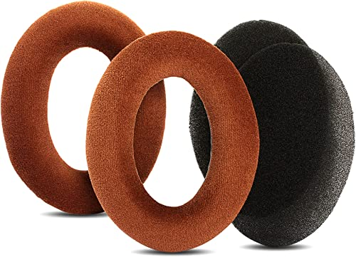 YDYBZB Velour Ear Pads Cushion Earpads Foam Replacement Compatible with Sennheiser Game ONE Game Zero PC 373D 7.1 Headphones (Brown)