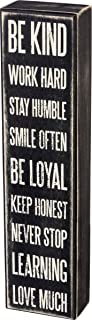 Primitives by Kathy 23585 Classic Box Sign, 3 x 12-Inches, Be Kind