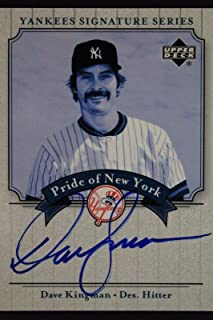 Dave Kingman Autograph 2003 UD Pride of New York Yankees Series Signed Card 16M