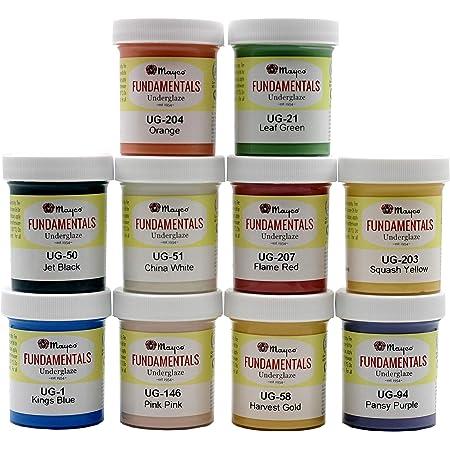 Speedball Deluxe Underglaze Set Set of 12 Pints Assorted Colors