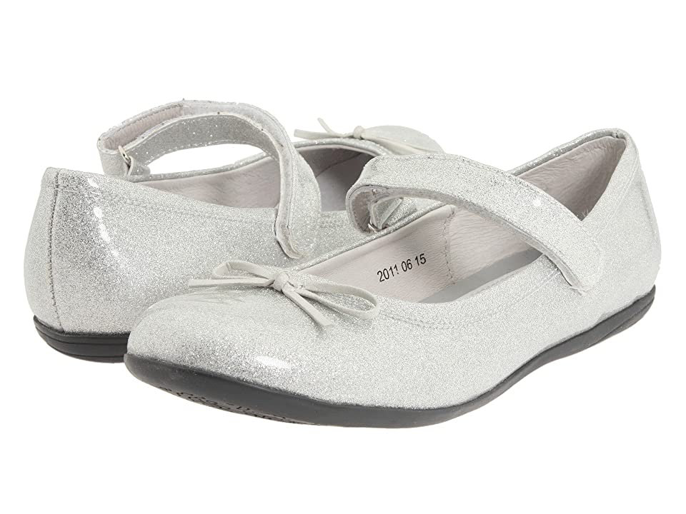 Kid Express Josie (Toddler/Little Kid/Big Kid) (Silver Glitter Patent) Girl