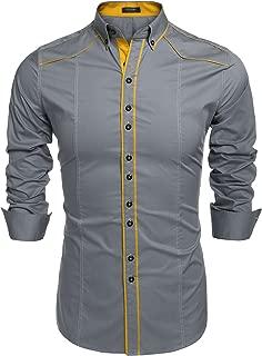 Men's Button Down Dress Shirts Casual Slim Fit Shirts