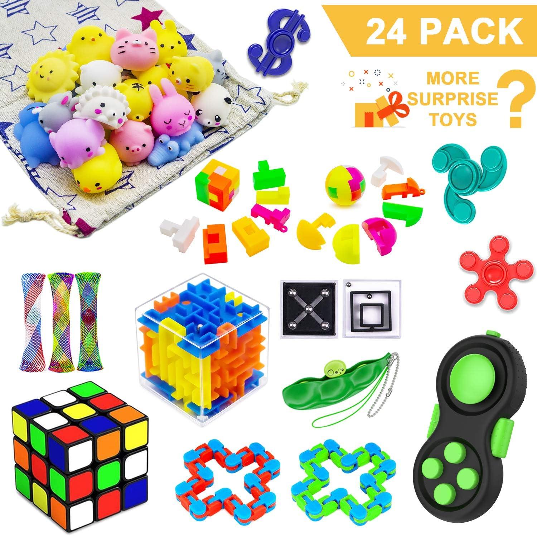 Fidget Toys Set,Sensory Toys Bundle for Stress Relief and Anti-A
