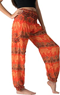 6a1d26ccd98 Bangkokpants Women s Harem Pants Bohemian Clothes Boho Yoga Hippie Pants  Smocked Waist