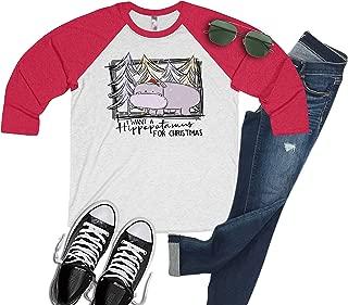 I Want a Hippopotamus for Christmas Raglan Christmas Shirt