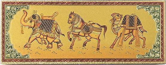 Kaarigari Artifacts Rajasthan Elephant Horse Camel Fridge Magnet/Multipurpose Magnet(Gold Finish)