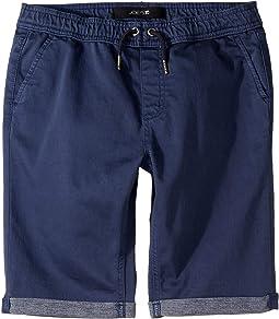 Jogger Pull-On Knit Denim Shorts (Big Kids)