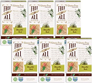 Free For All Kitchen Gluten-Free Crackers, Olive Oil & Herb, 5 Ounce (Pack of 6), Non-GMO, Certified Kosher, Certified Glu...