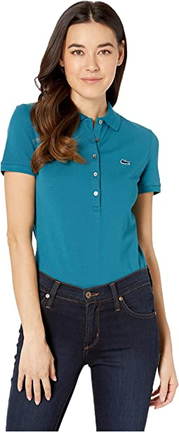 62ea83c97 5. Lacoste. Classic Short Sleeve Slim Fit Stretch Pique Polo