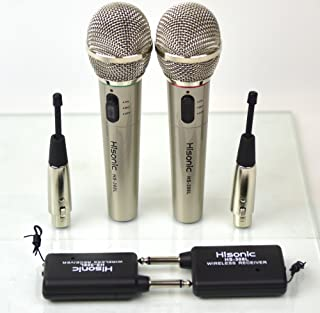 Hisonic 2 X HS308L, A Pair of Wireless Hand Held Microphone HS308L, 2 in 1 Microphone, Wired and Wireless Microphone, 2 Microphone included