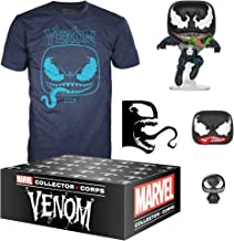 Funko Marvel Collector Corps, Subscription Box, Venom Theme, September, X-Large T-Shirt Size, Multicolor