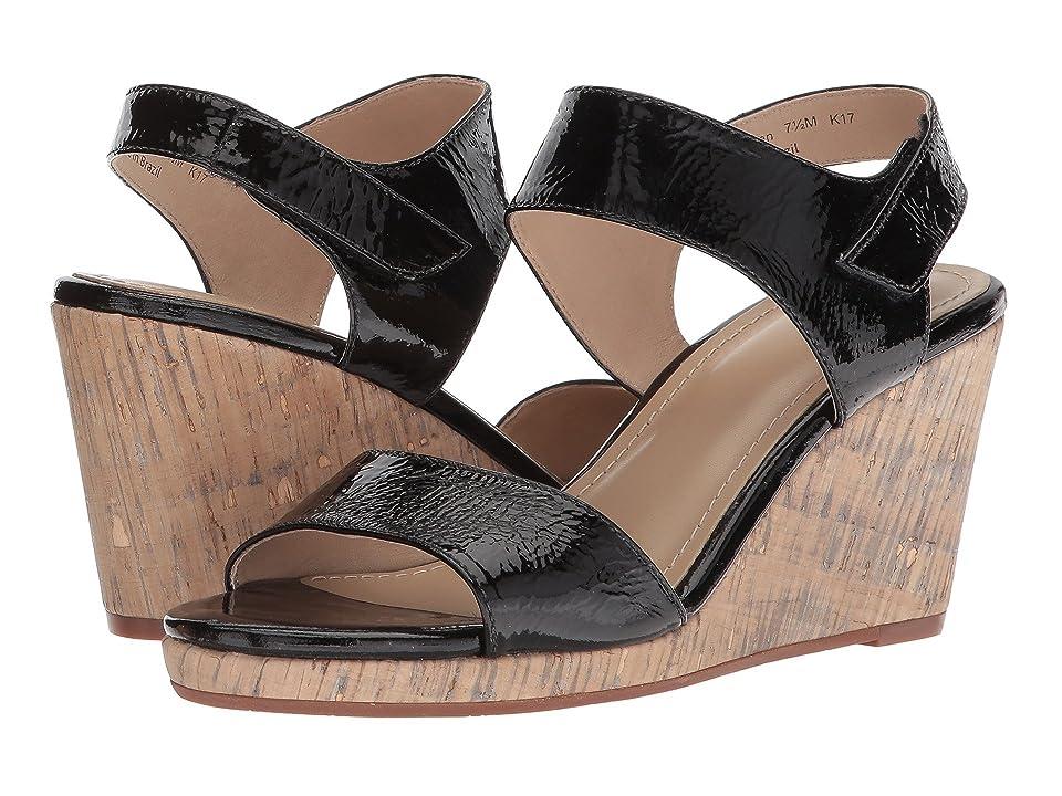Johnston & Murphy Glenna (Black Crinkle Patent Leather) Women