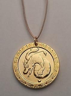 Zahnfee.me Medalla Dragón del Ratoncito Pérez - Bronce Dorado