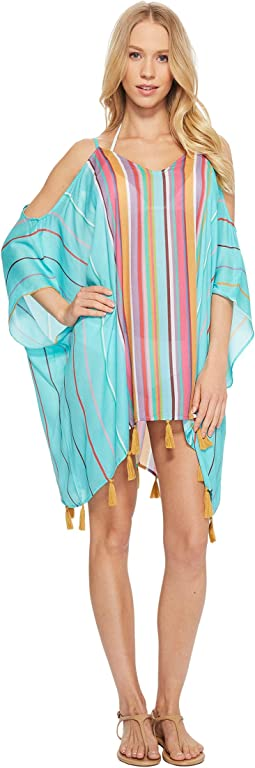 Nanette Lepore - Sayulita Cold Shoulder Caftan Cover-Up
