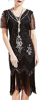 ArtiDeco 1920s - Vestito da donna a maniche corte Gatsby Motto
