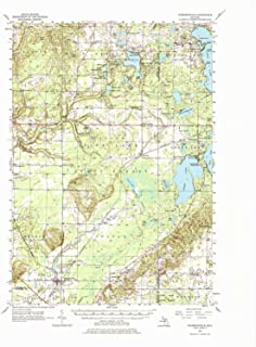 YellowMaps Thompsonville MI topo map, 1:62500 Scale, 15 X 15 Minute, Historical, 1956, Updated 1976, 21.7 x 17.9 in