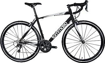 Tommaso Monza Endurance Aluminum Road Bike, Carbon Fork, Shimano Tiagra, 20 Speeds, Aero Wheels, Matte Black, Blue