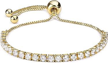 J.Fée Réglable Bracelet en Argent Sterling Bracelet 5A Zircon cubique - Un Grand Cadeau pour Les Femmes et Les Filles…