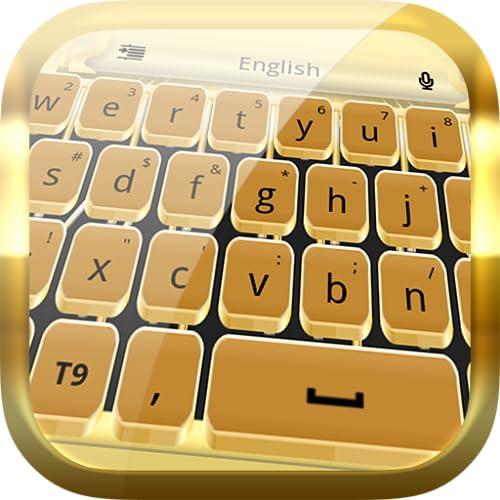 ゴールドタイプライターのキーボード