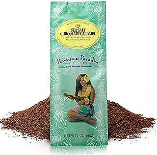 Hawaiian Paradise Coffee Medium Roast (7-OZ) World Class Premium Flavored Grounds Gourmet | Signature Brewed Made From the Finest Beans| Farm Fresh Earth Friendly | Sea Salt Caramel