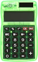 Victor 700BTS 8-Digit Pocket Calculator in Bright Colors, Battery and Solar Hybrid Powered LCD Display, Great for Students and Kids, Fits in Backpacks, Purses, or Brief Cases, Color Will Vary