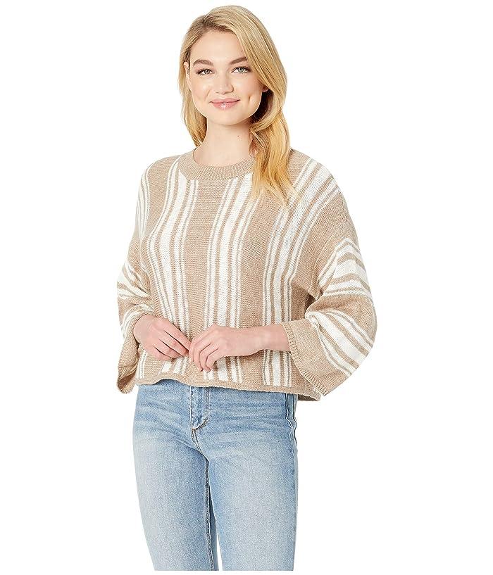 Jack by BB Dakota Between the Lines Striped Sweater (Medium Khaki) Women