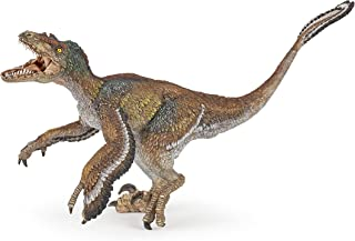 Papo Feathered Velociraptor Figure, Multicolor