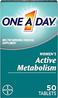 One A Day Women's Active Metabolism Multivitamin, Supplement with Vitamin A, Vitamin C, Vitamin D, Vitamin E and Zinc for ...