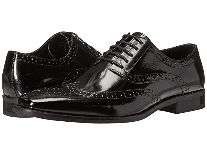 1950s Mens Shoes: Saddle Shoes, Boots, Greaser, Rockabilly Stacy Adams Tinsley Wingtip Oxford Black Mens Lace up casual Shoes $83.47 AT vintagedancer.com